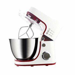 Fouet de mélangeur de crème de Machine de pétrissage Automatique Multifonctionnel Commercial 4.2L pour la fête de Groupe de Famille (Color : White)
