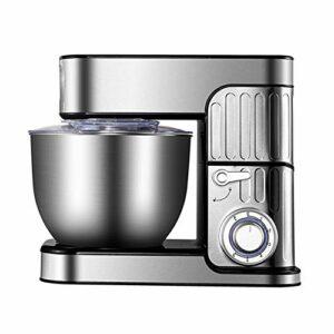 GzxLaY Batteur sur Socle 1000 W, mélangeur de pâte électrique de Cuisine avec Bol, Fouet, Crochet pétrisseur, Batteur, Pare-éclaboussures, pour la Plupart des cuisiniers à Domicile