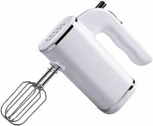 Mélangeur à main électrique, Mélangeur de mains à 5 vitesses à 5 vitesses avec bouton turbo, fouet de poche for cuisson de cuisine E Mini oeufs de crème alimentaire, 2x batteurs, 2x crochets de pâte,