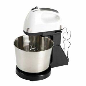Hemoton Batteur électrique professionnel pour crème fouettée, pâte, mixeur de pain, batte d'œufs, mélangeur pour la maison, la cuisine – Noir