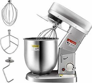 Huanyu Robot de cuisine 500 W 10QT Robot pâtissier électrique 3 en 1 avec crochet pétrisseur, fouet (110 V)