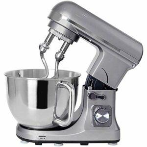 Macro Mélangeur Machine 1000W Cuisine Robot culinaire mélangeur de pâte avec Batteur à Oeufs Crochet de pâte Fouet 6L Bol de mélange en Acier Inoxydable