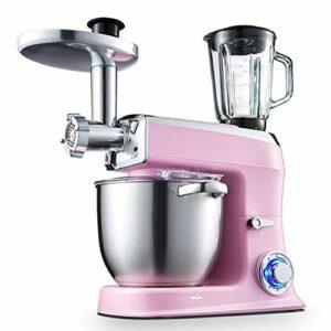 N/A 3 en 1 Multifonction Cuisine Machine avec 7,5 L Food Grade Aliments Grinder, Hachoir, Presse-agrumes, Fouet rose