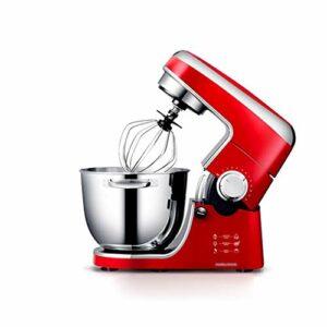 Robot Pâtissier Mélangeur de mixage alimentaire Mélangeur Mélangeur 1000W Mélangeur électrique à 12 vitesses à 12 vitesses avec 4,3L BOIT BATEUR CROCHAGE Système de mélange planétaire (Color : Red)