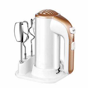 Fouet Domestique électrique à Main électrique à 5 Vitesses Fouet à Vitesse réglable Mini Fouet avec Base de Cuisine Batteur à crème à fouetter