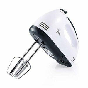 Mélangeur portable à la main, batteur de poche électrique de poche batteur électrique Mélangeurs de main for la cuisine en acier inoxydable Batters 7 vitesses WHISKS-WHITE jianyou ( Color : White )