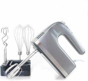 SXXYTCWL Le Fouet électrique Comprend Le Support de Stockage, l'affichage numérique 400W 9 Vitesses mélangeur électrique de Cuisson de Cuisson avec 2 batteurs, 2 Crochets de pâte, 2 Whisk jianyou