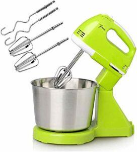 BAIRU Robot pâtissier Mélangeur de Stand | Mélangeur de gâteau à 7 Vitesses | Crochet d'aliments électriques Crochet de pâte à épouse de Fouet pour la Cuisine, Vert (Color : Green)