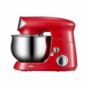 Mélangeur Cuisine Domicile, Baril Mélange Acier Inoxydable Grande Capacité 3,5L Profitez Bon Moment Cuisson Fouet De Lait Frais Réglage En Plusieurs Étapes (Color : Red)