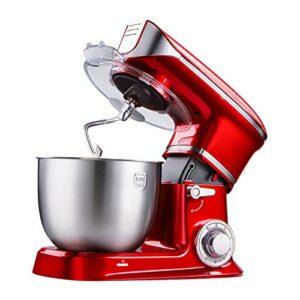 Mélangeur Électrique Fouet, Machine Chef Bureau Pétrissage Multifonctionnel Domestique Remuer Salade Oeufs Au Beurre Décorations De Cuisine Modernes (Color : Red)