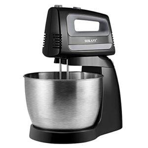 Robot de cuisine – 400 W – Bol en acier inoxydable de 3,5 l – 5 vitesses – Fouet – Batteur à main avec crochet pétrisseur.