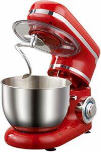 Robot pâtissier Bol en Acier de mixage de Stand | Mélangeur de Cuisine électrique 1200W | Crème à crème à 6 Vitesses Fouet Fouet Cuisson de la pâte de pâte à Pain