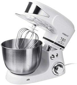 robot pâtissier Mélangeur de nourriture à tête inclinée | Mélangeurs de cuisine à 6 vitesses 1000W avec crochet de la pâte, fouet, batteur, séparateur blanc d'œuf | 5L Mélangeur de support de cuisine