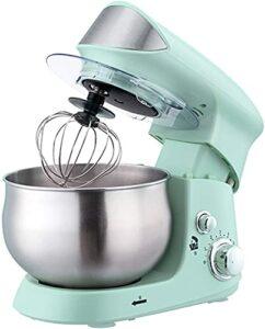 Robot pâtissier Mélangeur de Stand de Nourriture avec Bol | Multifonctional Doughleer avec Une Gamme d'accessoires | Bol en Acier Inoxydable de 3,5 litres (Color : Green)