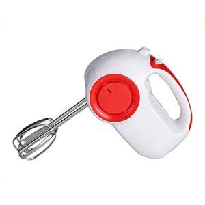 Mélangeurs à main WeZest Batteur à main de cuisine électrique, mélangeur à main de cuisine à 5 vitesses 150W, pour fouetter, gâteaux, crème aux œufs, batteur, rouge