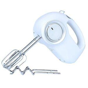 Mélangeurs à main WeZest Mélangeur à main de cuisine électrique portable, batteurs et fouet à fil torsadé en acier inoxydable, 5 vitesses 200W Turbo, avec batteurs à fil torsadé pour biscuits