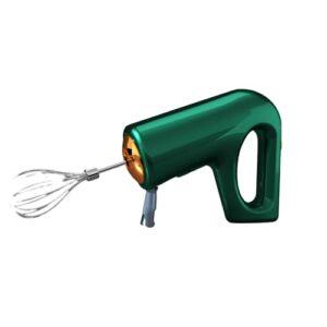 QZH Mélangeur à Main électrique, Fouet sans Fil Mélangeur électrique à 5 Vitesses, mixeur de Cuisine Portable, Fouet, Cuisson, Blanc,Vert