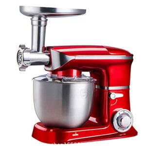 Robot Pâtissier 6 Réglages De Vitesse Mélangeur Alimentaire Machine Robot De Cuisine Pour La Cuisson Avec Crochet Pétrisseur, Fouet, Batteur Pour La Cuisson,C