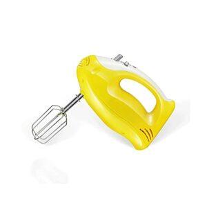 Sdesign Mélangeur de Main Compact à 5 Vitesses ménagère avec Stockage de Batteur intégré Intelligent – Beatrice d'oeufs de Poche – Mini Mini Petite Machine à mélanger de la Cuisine (Color : Yellow)