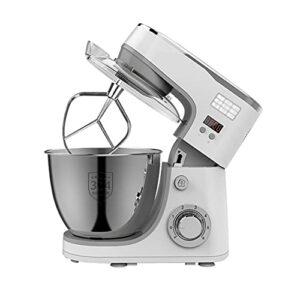 Family Dough Blender Robot de cuisine électrique pour mélanger les ingrédients uniformément, crème fouettée rapide et douce (couleur : argent)