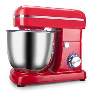 Karid Mélangeur sur Socle de Cuisine, Robot culinaire électrique 1500 W / 6 Vitesses-mélangeur de pâte à gâteau avec Bol en Acier Inoxydable/mélangeur à Fouet à œufs en crème,Rouge