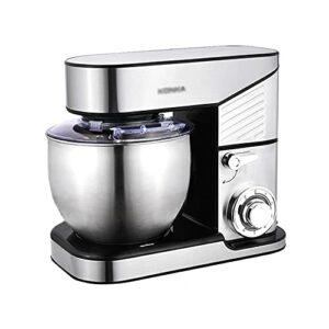 Robot de cuisine 1000 W Fouet pour usage domestique Robot pâtissier avec 6 vitesses 5/6 L Bol en acier inoxydable, fouet, fouet, crochet pour pétrir