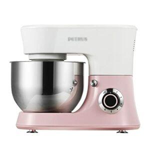 Robot pâtissier automatique 4,8 l 6 vitesses Home Petit mixeur multifonction pour aliments avec accessoires pour bol en acier inoxydable