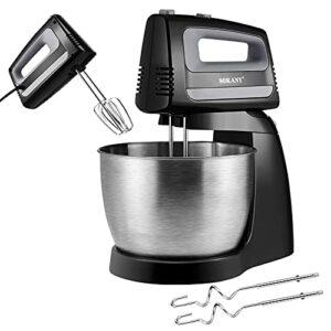 Robot Patissier, BITOWAT 3.5L et 5 Vitesses Batteur sur Socle 400W Robot de Cuisine Multifonctions Avec Crochet à Pâte Batteur Et Palette de Mixage