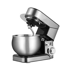Robot pâtissier pour usage domestique en acier inoxydable à 6 vitesses. Fouet électrique pour aliments. Facile à utiliser. Robe pour 4 à 5 personnes.