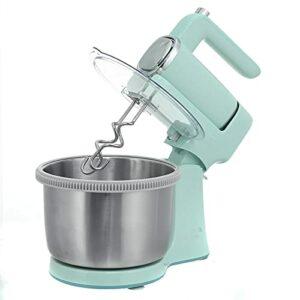 BaoYPP Robot Patissier Multifonctions Mélangeur De Nourriture Crème Crème Whisk 9 Engrenages avec Rôtissoire Rotation en Acier Inoxydable 304 Facile à Utiliser (Couleur : Vert, Size : 4L)
