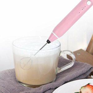 Eulbevoli Mélangeur de Boissons, Batteur à Oeufs Batteur à Oeufs à Faible Bruit mélangeur Facile à Cuisiner cafés de Restaurant(Pink, Insect)