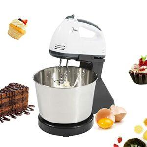 Fetcoi Mixeur plongeant 7 vitesses Électromiseur 100 W Ultra Power Mixeur à main pour la cuisson de gâteaux, de la crème aux œufs, du fouet, des gâteaux et de la pâte