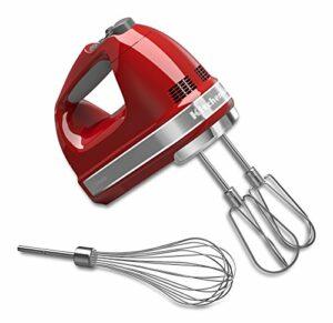 KitchenAid Khm72107Speed Digital mixeur à main avec Turbo Batteur II accessoires 9.5 x 5.5 x 7.8 inches ; 2.1 pounds Empire Red