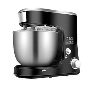 Machine de pétrissage 5L de ménage, petite machine à cuire automatique, mélangeur de pétrissage multi-fonction, fouet électrique (noir; 33,9 * 22,7 * 32.3cm)