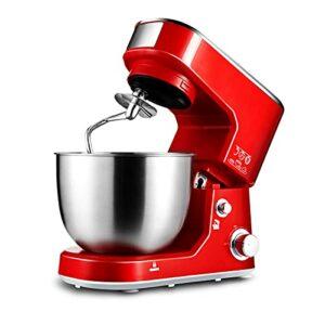 Mélangeur de pâte de ménage 5L, petite machine à cuire automatique, mélangeur de pétrissage multifonction, fouet électrique (rouge; 33,9 * 22,7 * 32,3 cm)