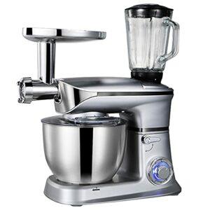 Mélangeur de pâte de ménage 6.5L, machine de cuisson automatique, mélangeur de pétrissage multi-fonction, fouet électrique (argent; 42 * 25,5 * 34cm)