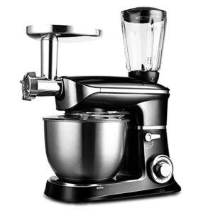 Mélangeur de pâte de ménage 6.5L, machine de cuisson automatique, mélangeur de pétrissage multi-fonction, fouet électrique (noir; 42 * 25,5 * 34cm)
