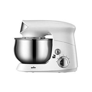 Mixeur électrique sur pied, mixeur multifonction avec fouet K, crochet pour pâte et fouet en acier inoxydable, décoration de cuisine moderne (couleur : blanc)