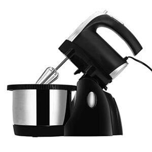 QuRRong Robot Patissier Mélangeur De Pâte 220V 500W Crème Eggins À Crème Batter Food Dratter Blender Blender Stand pour Le Glaçage des Meringues (Couleur : Black, Size : 3L)