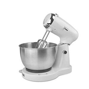 Robot Patissier Multifonctions Mélangeur De Pâte De Mixage Électrique De Cuisine avec Broche De Crochet en Acier Inoxydable 3.2L Facile à Utiliser (Couleur : Silver, Size : 3.2L)
