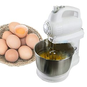 RRFZ Batteur sur Socle, Mini Batteur sur Socle, Le Batteur à œufs Qui secoue la tête, 3 L, avec 5 Vitesses, avec Un Batteur, Un Crochet à pâte (Batteur sur Socle)
