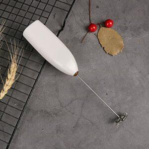 Toopower 1pcs Cuisine Gadget Gadget poignée électrique boit du Lait moussoir moussant mousque mixeur mélangeur agitateur Batteur Oeuf Whisk mixeur agitateur (Color : White)