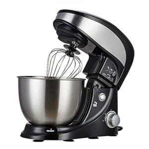 Batteur sur socle à 3 vitesses, robot culinaire, crochet pétrisseur et fouet, bol de 4 litres, protection anti-éclaboussures amovible, pour aliments blés, salade, gâteau