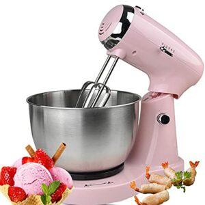 Robot De Cuisine, Mélangeur De Nourriture, 3,2L 350w, Batteur électrique De Cuisine Avec 2 Crochets à Pâte, 2 Fouets, (Rose)