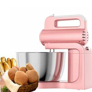Robot De Cuisine, Robot Pâtissier, Mélangeur électrique, 1.5L Mélangeurs à Pâte à 5 Vitesses Pour La Cuisson Avec Fouet Et Bâtonnets De Nouilles, Pour La Cuisine à Domicile (Rose)