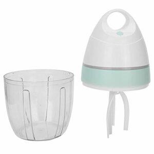 Batteur à oeufs, mousseur à lait Mélangeur à gâteau à la crème robuste Fouet électrique Bonne étanchéité à l'air Haute efficacité automatique avec USB pour la cuisine