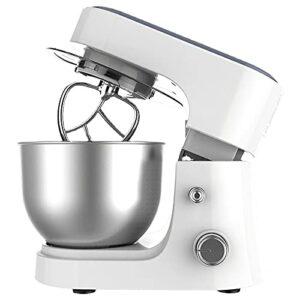 CLING Mélangeur sur Socle à la Maison Mélangeurs électriques Cuisine 4L pâte à tête inclinable à 6 Vitesses avec Bol en Acier Inoxydable, Crochet à pâte, Fouet, Batteur