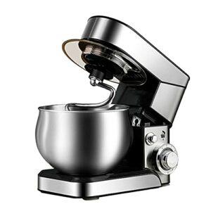 CuteLife Robot Patissier 5L 1200W Electric 6 Vitesses Gâteau Stand Mitigeur Aliments Mélangez-Vous Mélangeur De La Pâte De La Pâte pour Le Malaxage de Cookie (Couleur : Silver, Size : 5L)