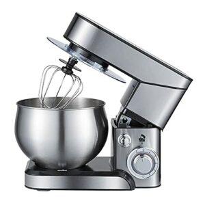 CuteLife Robot Patissier Stand Mélangeur 1000W Mélangeur De Cuisine Électrique avec Batteur De Fouet Crochet De La Pâte pour Le Malaxage de Cookie (Couleur : Silver, Size : 5L)