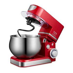 Robot Patissier Stand Mélangeur Crème Fouet Fouet Mixeur Gâteau Pain Maker 5l pour Le Malaxage de Cookie (Couleur : Red, Size : 5L)